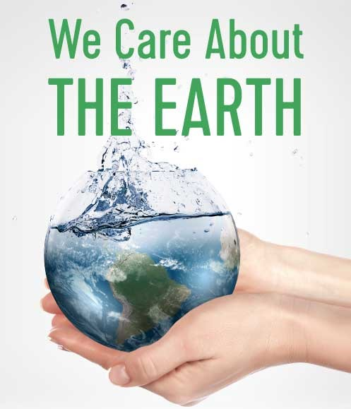 We care about the Earth